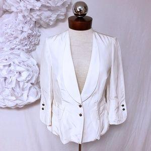 ROBERT RODRIGUEZ lightweight cream jacket blazer 4